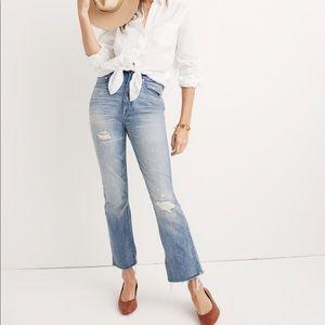 Madewell Rigid Demi-Boot Crop Jeans